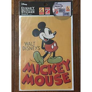 ディズニー(Disney)のデコレーションステッカー ミッキーB A5 2枚入り【新品 未開封】(ステッカー(シール))