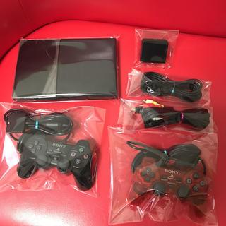 プレイステーション2(PlayStation2)の【メモリーカードアダプター付】PS2 本体 90000 チャコールブラック(家庭用ゲーム機本体)