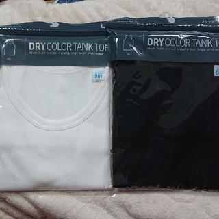 UNIQLO dry color tank top サイズL 白、黒二枚(タンクトップ)
