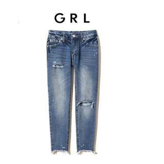 GRL - 未使用 グレイル GRL クラッシュテーパードデニムパンツ S