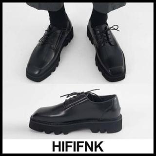 RAF SIMONS - HIFIFNK スクエアトゥ シューズ