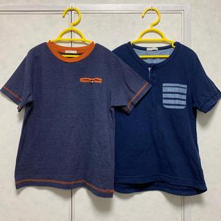 GU - 2枚セット GU キッズ Tシャツ 130 男の子 BOYS ポケット付き