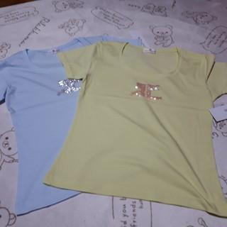 クレージュ(Courreges)の 新品⭐Courreges キラキラT ⭐水色のみ/9(Tシャツ(半袖/袖なし))