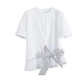 ZARA - ストライプ リボン Tシャツ