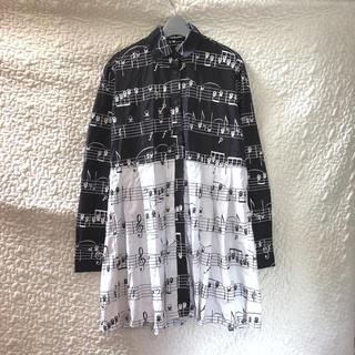 アンダーカバー(UNDERCOVER)の【希少】Daniel Palillo ☠️ ビッグシャツ ワンピース(ミニワンピース)