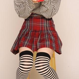 ウィゴー(WEGO)の赤チェック柄プリーツミニスカート jk コスプレ 制服(ミニスカート)