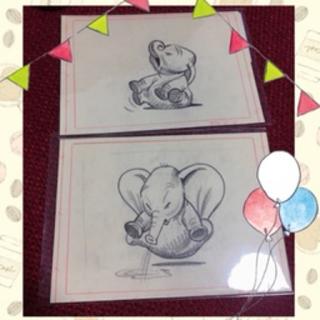 ディズニー(Disney)のディズニー・アート展 ダンボ ポストカード2枚セット(写真/ポストカード)