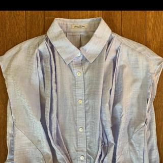 バーニーズニューヨーク(BARNEYS NEW YORK)の新品 未使用 タグ付き 半袖 袖なし シャツ M ブルー 日本製(シャツ/ブラウス(長袖/七分))