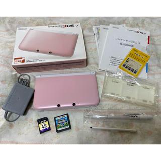 ニンテンドー3DS(ニンテンドー3DS)のNintendo 3DS  LL 本体ピンク/ホワイト(携帯用ゲーム機本体)