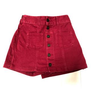 レピピアルマリオ(repipi armario)の美品 レピピアルマリオ スカート風ショートパンツ サイズXS  レッド(パンツ/スパッツ)