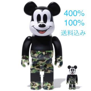 A BATHING APE - ☆希少☆ BAPE ベアブリック 400% 100% 緑