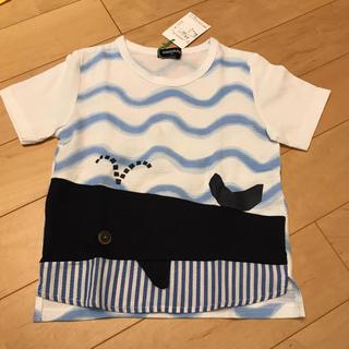 kladskap - クレードスコープ 新品 クジラ 波 Tシャツ 110