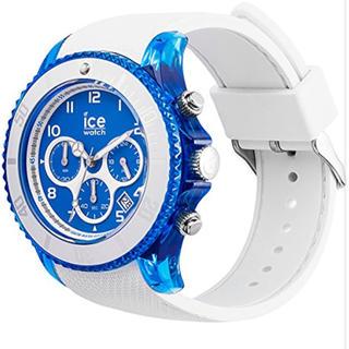 アイスウォッチ(ice watch)の新品 アイスウォッチ ICE Dune ラージ ホワイト×ブルー(腕時計(アナログ))