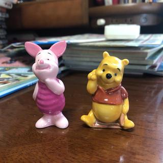 ディズニー(Disney)のくまのプーさん プーさん ピグレット 置物 2つセット(置物)