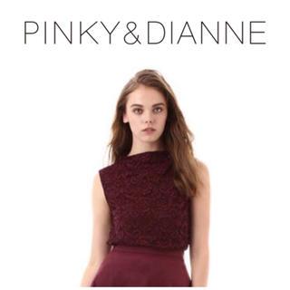 ピンキーアンドダイアン(Pinky&Dianne)のPINKY & DIANNE 【Oggi 掲載】レースボトルネックブラウス(シャツ/ブラウス(半袖/袖なし))