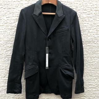 イサムカタヤマバックラッシュ(ISAMUKATAYAMA BACKLASH)のbacklash  バックラッシュ リネン レザー切替 テーラードジャケット M(テーラードジャケット)