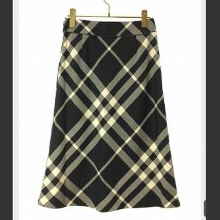 BURBERRY - ♥バーバリー 大きいチェック ロングスカート パンツ ワンピース 黒