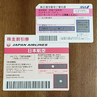 JAL(日本航空) - JAL、ANA株主優待券セット(各1枚)