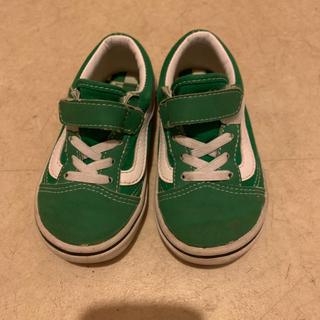 VANS - バンズ  緑 スニーカー  16センチ