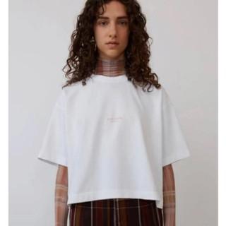 アクネ(ACNE)のAcne Studios ロゴTシャツ 2018 ピンクロゴ(Tシャツ(半袖/袖なし))