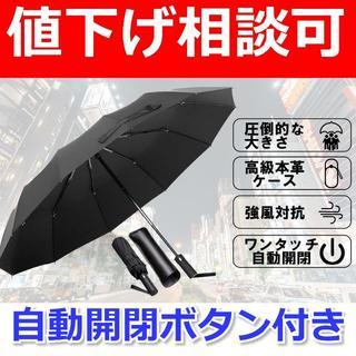 ワンタッチ自動開閉ボタン付き折りたたみ傘(傘)