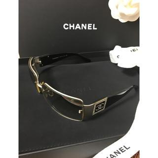 CHANEL - CHANEL  シャネル サングラス ココマーク ラインストーン 美品