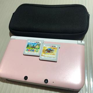 ニンテンドー3DS - 🌟3DSLL本体ピンク+とびだせどうぶつのもり他ソフト2本ケースセット🌟