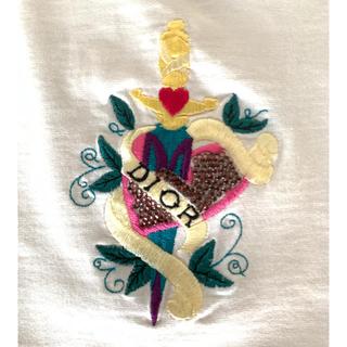 クリスチャンディオール(Christian Dior)の【再再再再値下げ】Christian Dior の刺繍ノースリーブTシャツ☆(Tシャツ/カットソー)