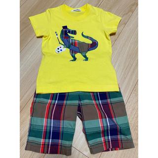 familiar - ファミリア 恐竜Tシャツパンツセット 100