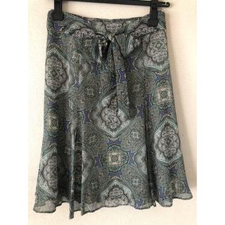 オールドイングランド(OLD ENGLAND)のシルクスカート(ひざ丈スカート)