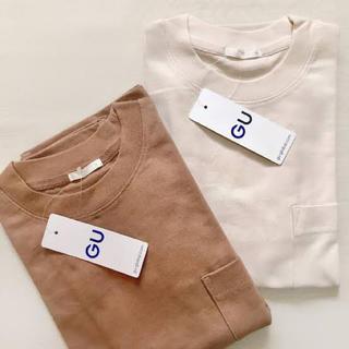 GU - GU ヘビーウェイトT 半袖 5分袖 夏物 Tシャツ オーバーサイズ