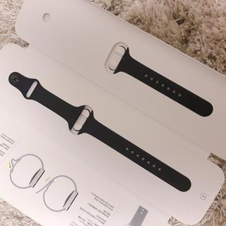 アップルウォッチ(Apple Watch)のアップルウォッチ 純正スポーツバンド 40mm ブラック(ラバーベルト)