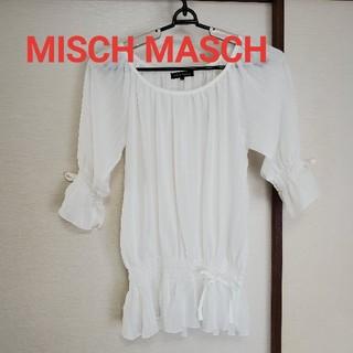 MISCH MASCH - ミッシュマッシュ 白トップス