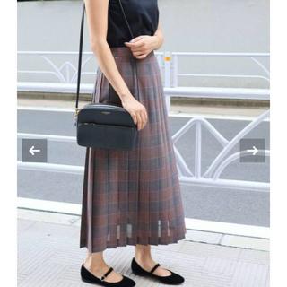 IENA - ⚫︎試着のみ⚫︎ IENA シアーチェックプリーツスカート