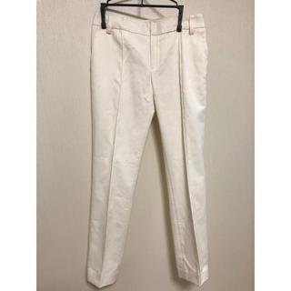LE CIEL BLEU - ルシェルブルー オフホワイト センタープレス パンツ 36サイズ
