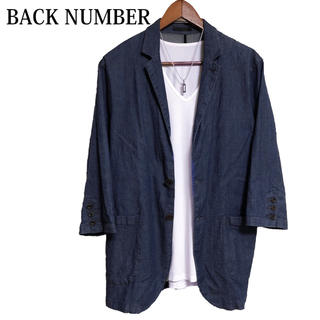 BACK NUMBER - BACK NUMBER 七分袖ジャケット テーラードジャケット 羽織りもの 青
