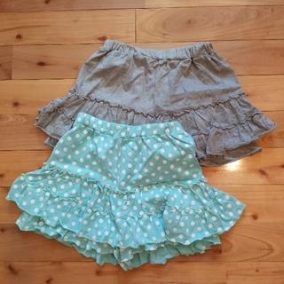 ニッセン(ニッセン)のキュロットスカート2枚組 150cm(スカート)