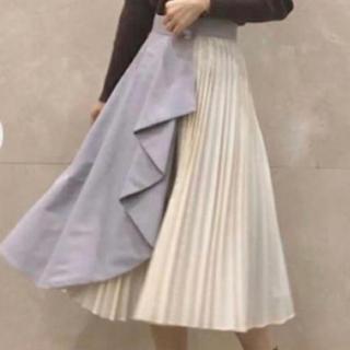 31 Sons de mode - 《タグ付き新品未使用》配色ラッフル片プリーツスカート