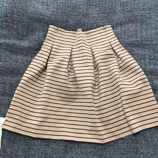 マーキュリーデュオ(MERCURYDUO)のタックボーダースカート♡(ミニスカート)