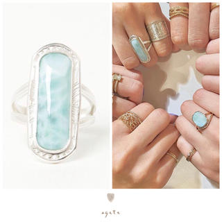 アガット(agete)のagete♡ラリマーリング♡2019年限定コレクション♡完売♡アガット(リング(指輪))