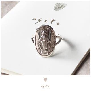 アガット(agete)のagete♡メダイシルバーリング♡アガット♡インポート♡限定店舗販売(リング(指輪))