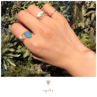アガット(agete)の【期間限定出品】新品♡agete♡K10リング♡ダブレットオパール♡ダイヤモンド(リング(指輪))