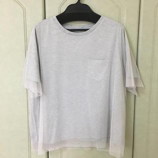 ルカ(LUCA)のLUCA レースTシャツ ライトグレー 新品(Tシャツ(半袖/袖なし))
