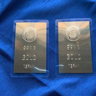 徳力 純金1gカード 2枚(金属工芸)