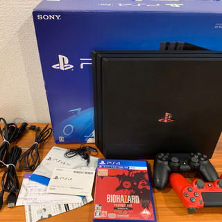 PlayStation4 - PlayStation4 Proジェットブラック1TB(コントローラー二つあり)