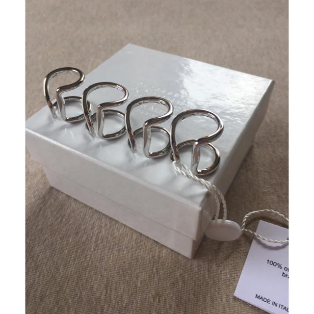 Maison Martin Margiela(マルタンマルジェラ)の新品 メゾン マルジェラ アウトライン 4連リング 指輪 シルバー リング  メンズのアクセサリー(リング(指輪))の商品写真