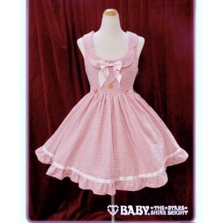 BABY,THE STARS SHINE BRIGHT - 送料無料●定価  2万0790円●BABY●千鳥プリンセスジャンパースカート清楚