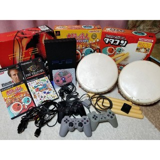 プレイステーション2(PlayStation2)のプレステ2本体+ソフト(ジャンク品)(家庭用ゲーム機本体)