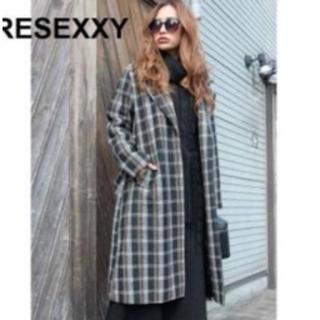 RESEXXY - リゼクシー ロングコート ガウン コート チェック