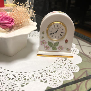 ウェッジウッド(WEDGWOOD)のウェッジウッド時計ストロベリー(置時計)